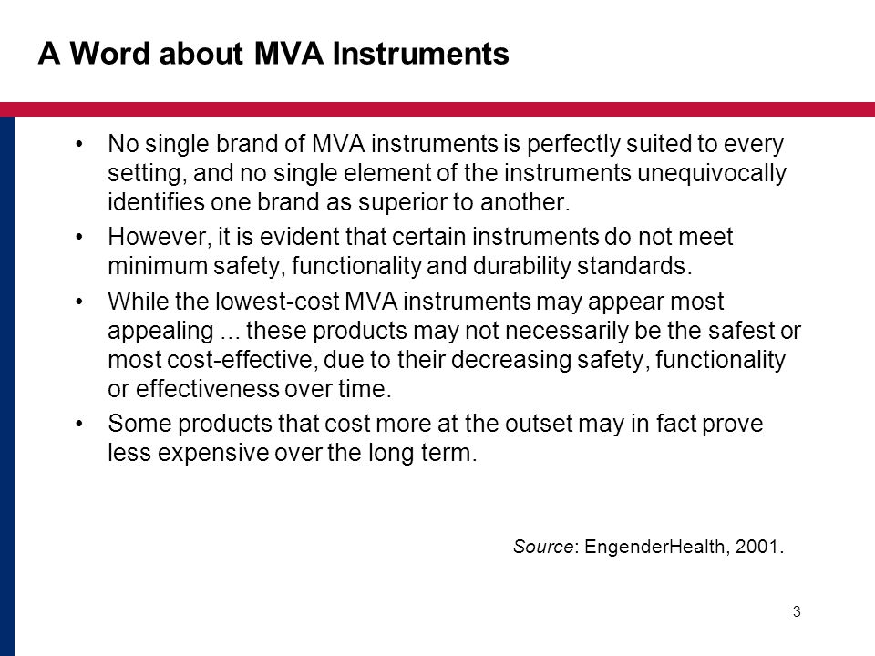A Word about MVA Instruments
