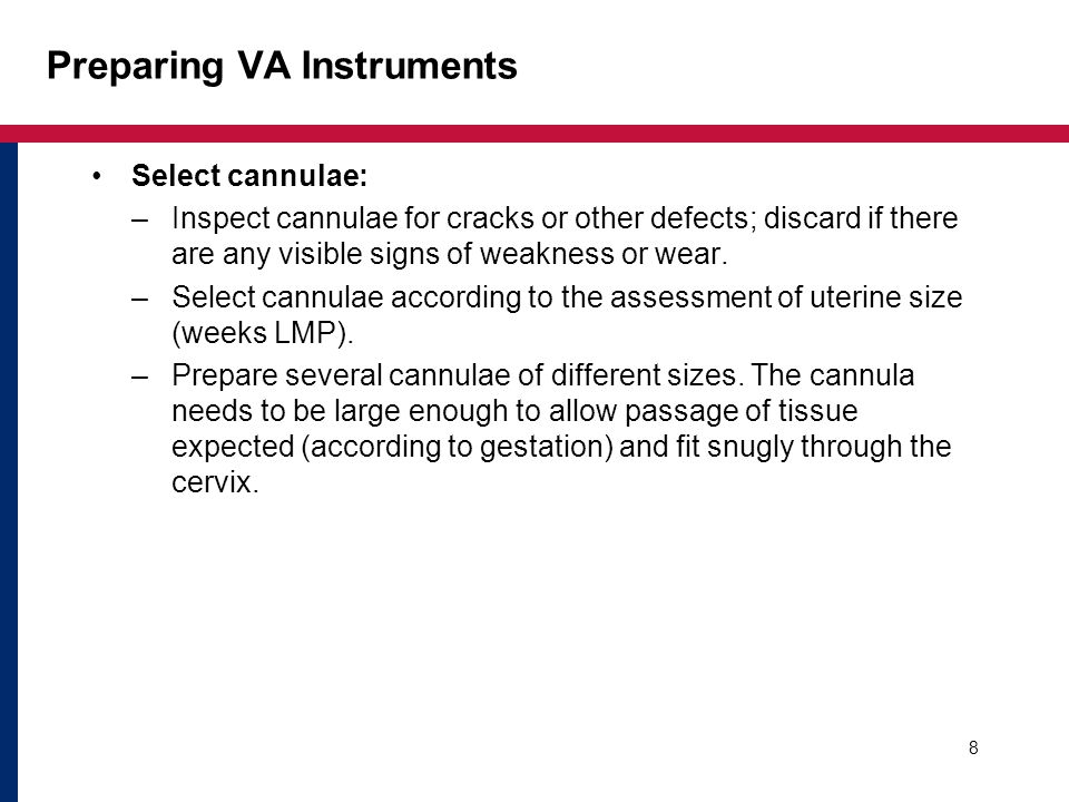 Preparing VA Instruments