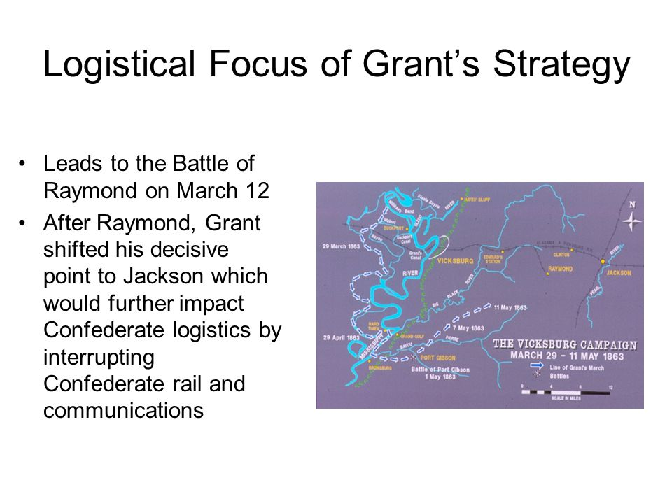 Logistical Focus of Grant's Strategy