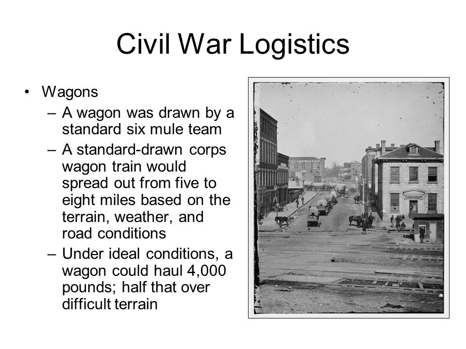 Civil War Logistics Wagons