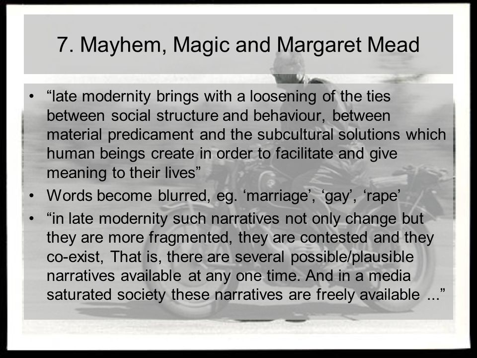 7. Mayhem, Magic and Margaret Mead