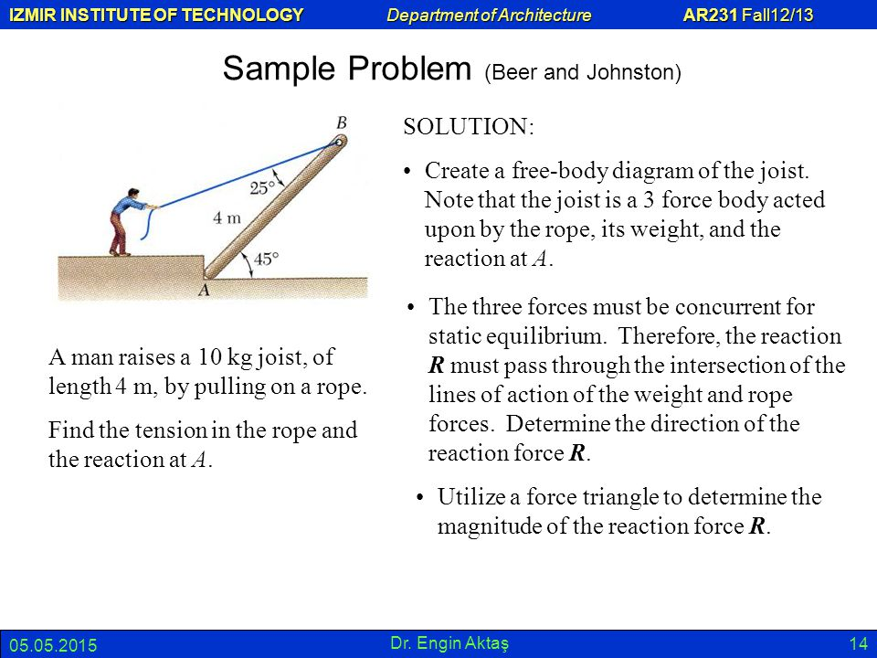 Sample Problem (Beer and Johnston)