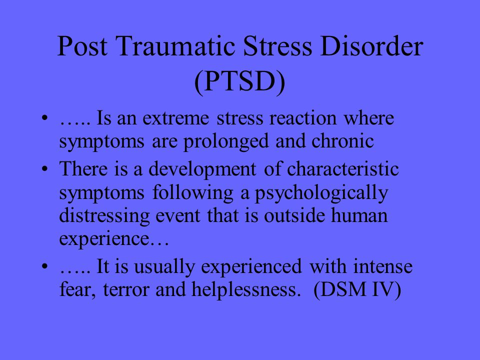 post traumatic stress disorder symptoms and effects on people essay Free essay: post-traumatic stress disorder  it consists of symptoms that are common in people who have suffered effects of this disorder can range from.