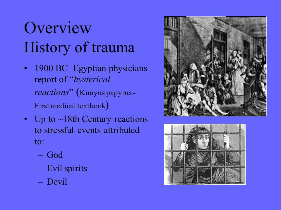 Overview History of trauma