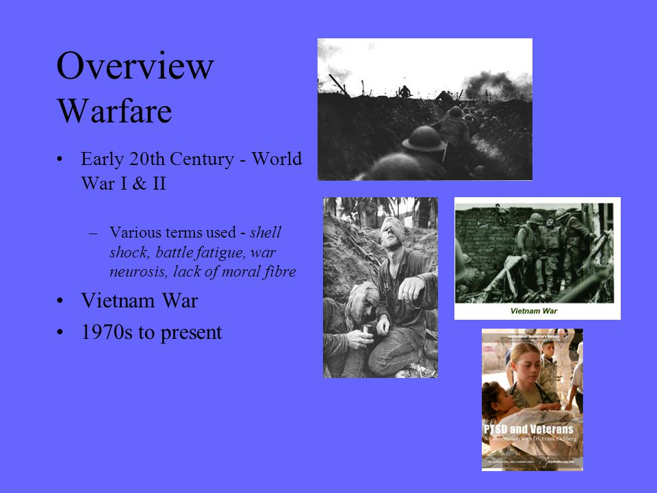 Overview Warfare Vietnam War 1970s to present