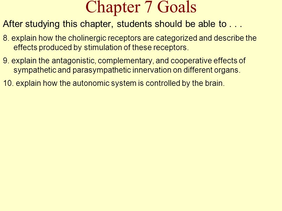 Chapter 7 Goals After studying this chapter, students should be able to . . .