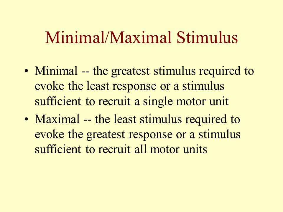 Minimal/Maximal Stimulus
