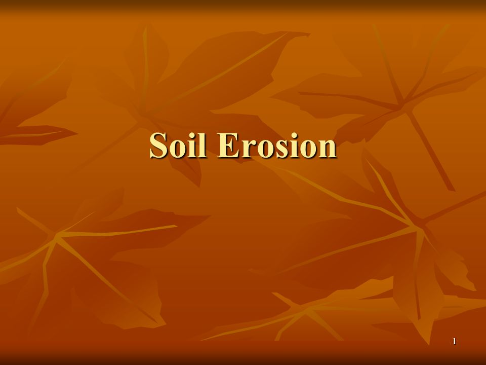 Soil Erosion PS U6 L9