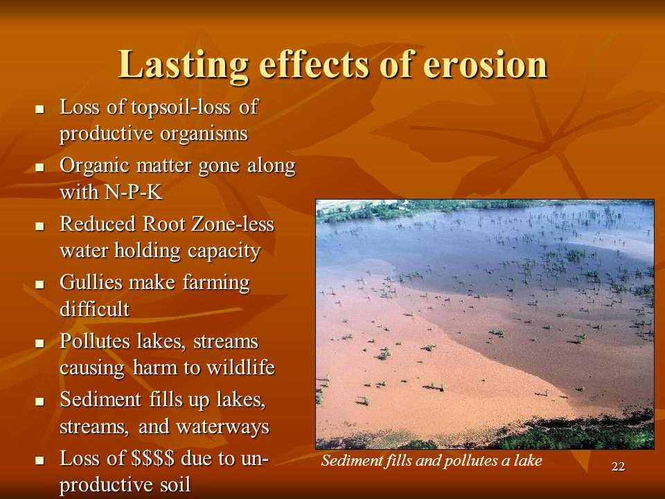 Lasting effects of erosion