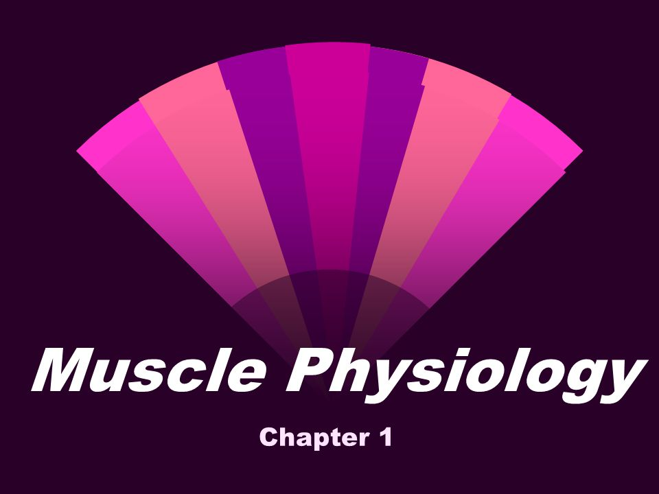 Muscle Physiology Chapter 1