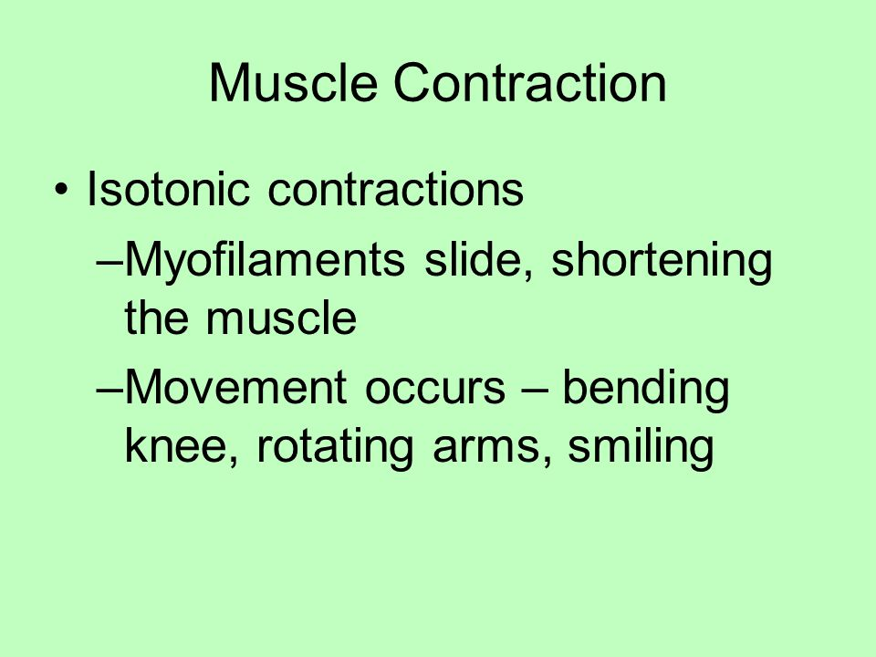Muscle Contraction Isotonic contractions
