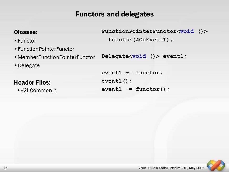 Functors and delegates