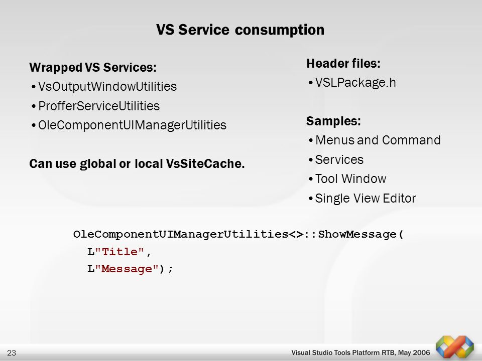 VS Service consumption