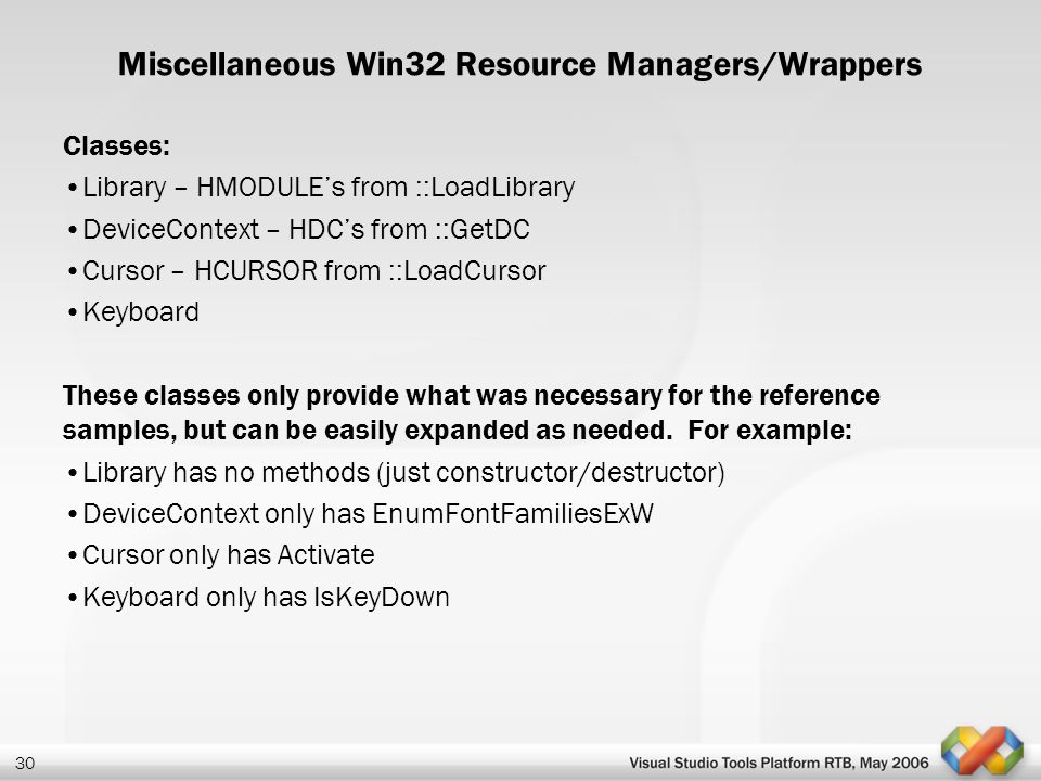 Miscellaneous Win32 Resource Managers/Wrappers