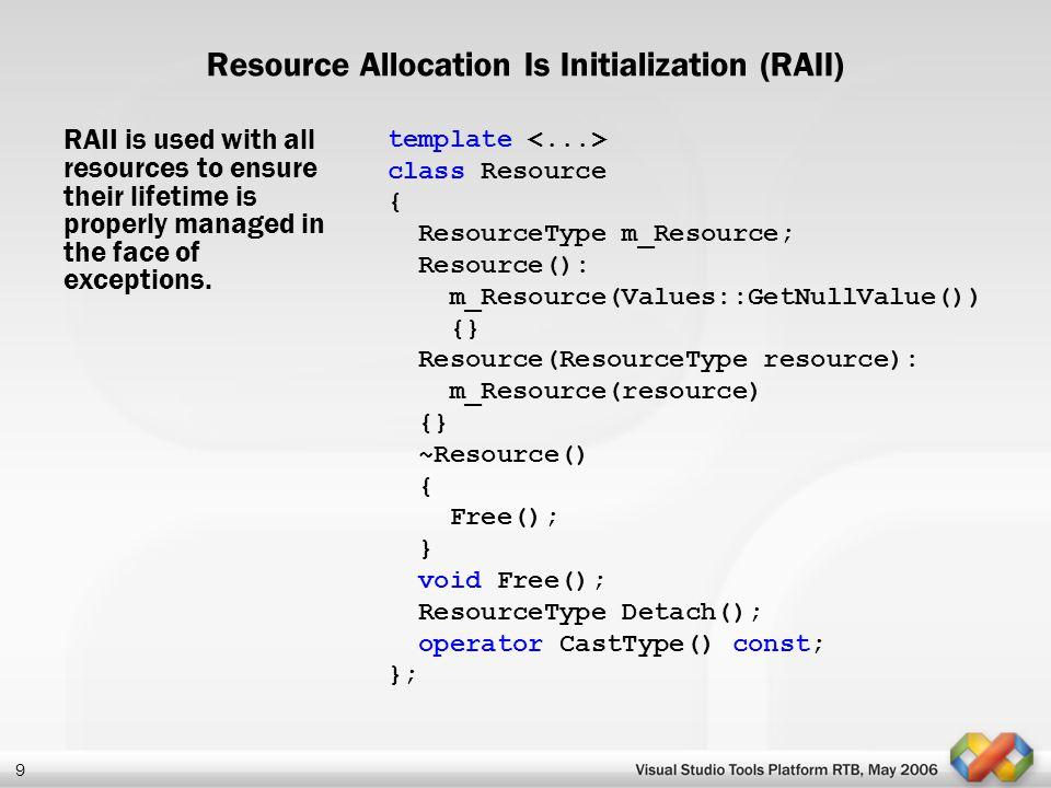 Resource Allocation Is Initialization (RAII)