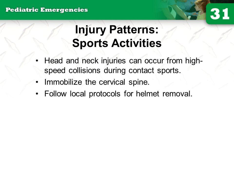 Injury Patterns: Sports Activities