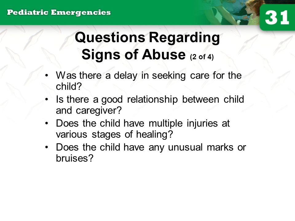 Questions Regarding Signs of Abuse (2 of 4)