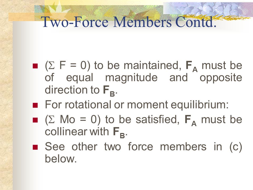 Two-Force Members Contd.