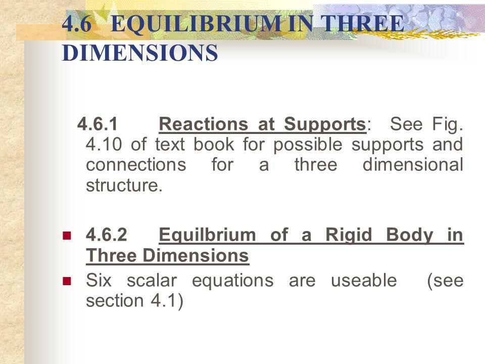 4.6 EQUILIBRIUM IN THREE DIMENSIONS