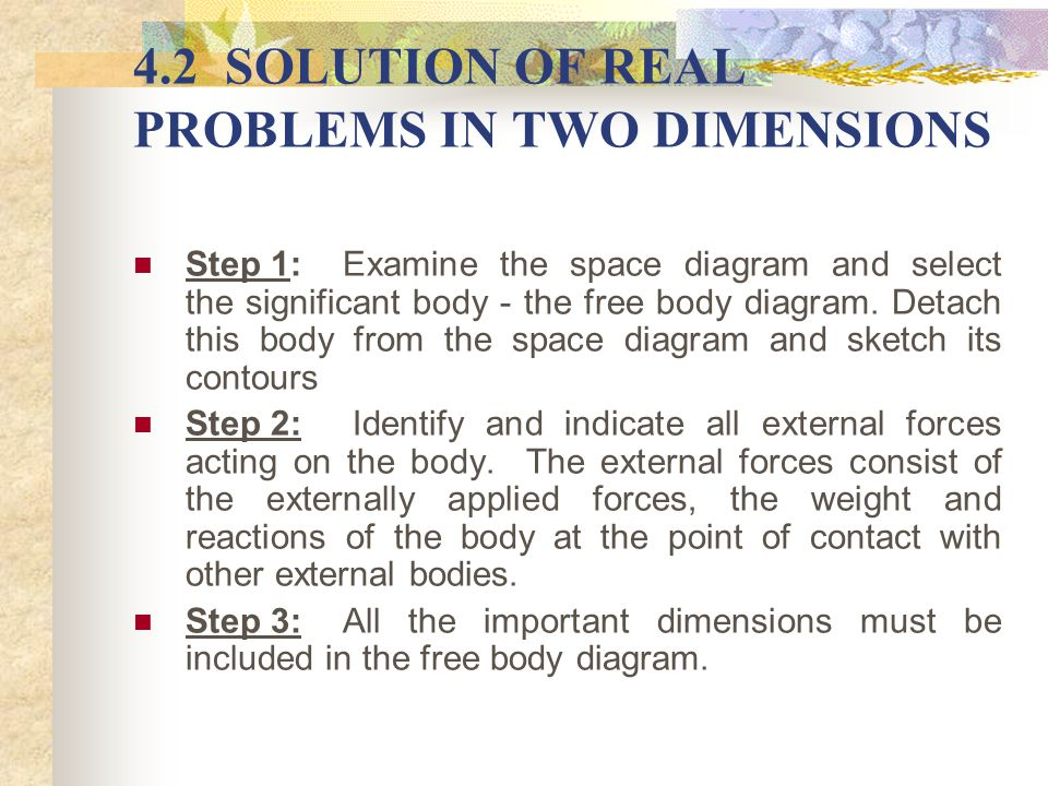 4.2 SOLUTION OF REAL PROBLEMS IN TWO DIMENSIONS