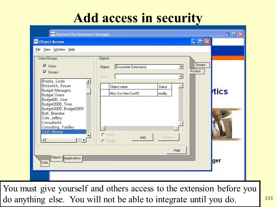 Add access in security