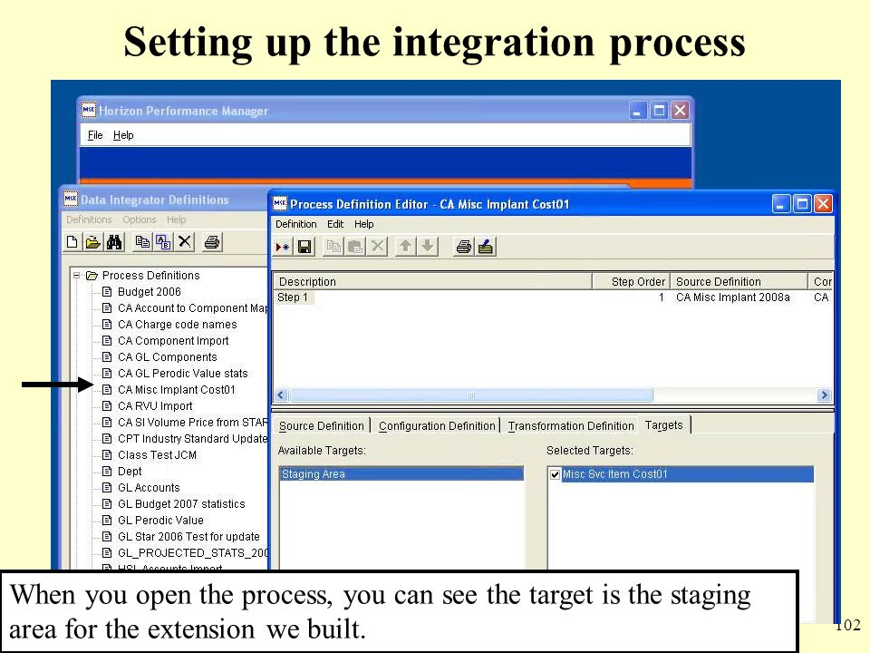 Setting up the integration process