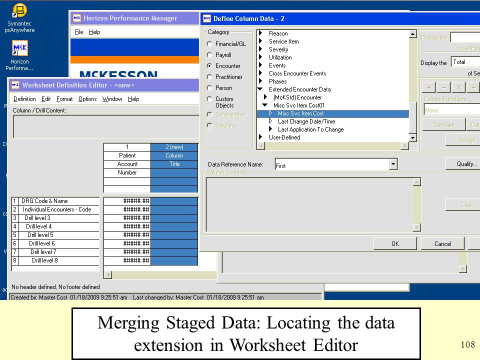 Merging Staged Data: Locating the data extension in Worksheet Editor