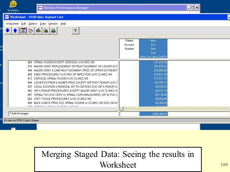 Merging Staged Data: Seeing the results in Worksheet