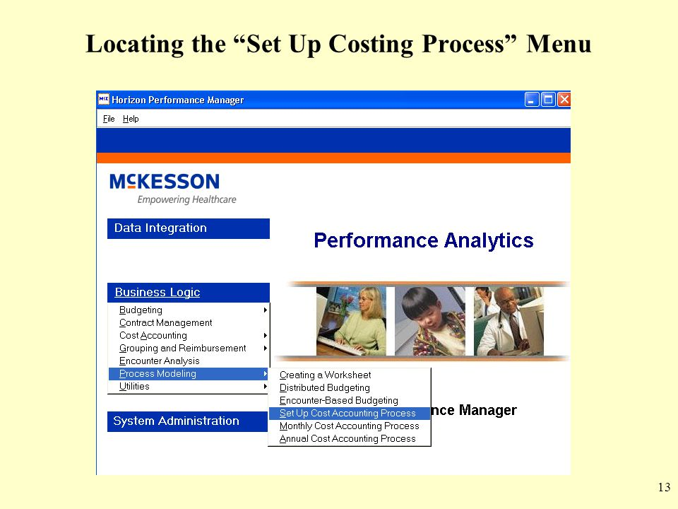 Locating the Set Up Costing Process Menu