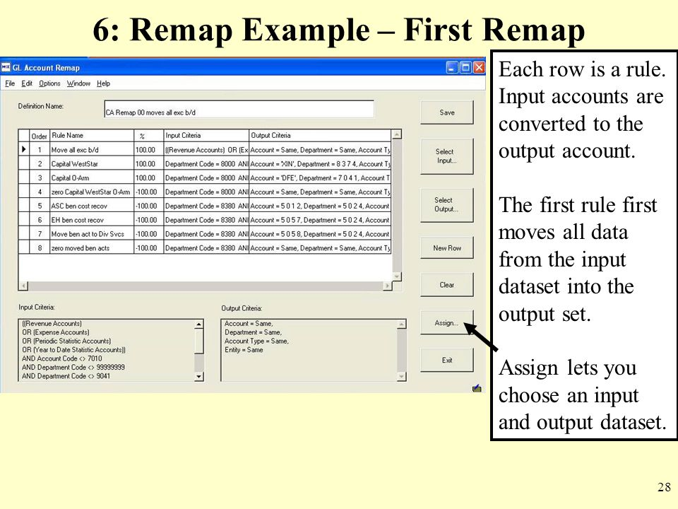 6: Remap Example – First Remap