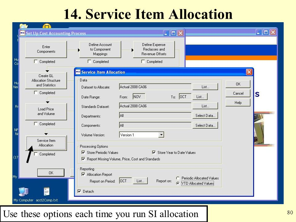 14. Service Item Allocation