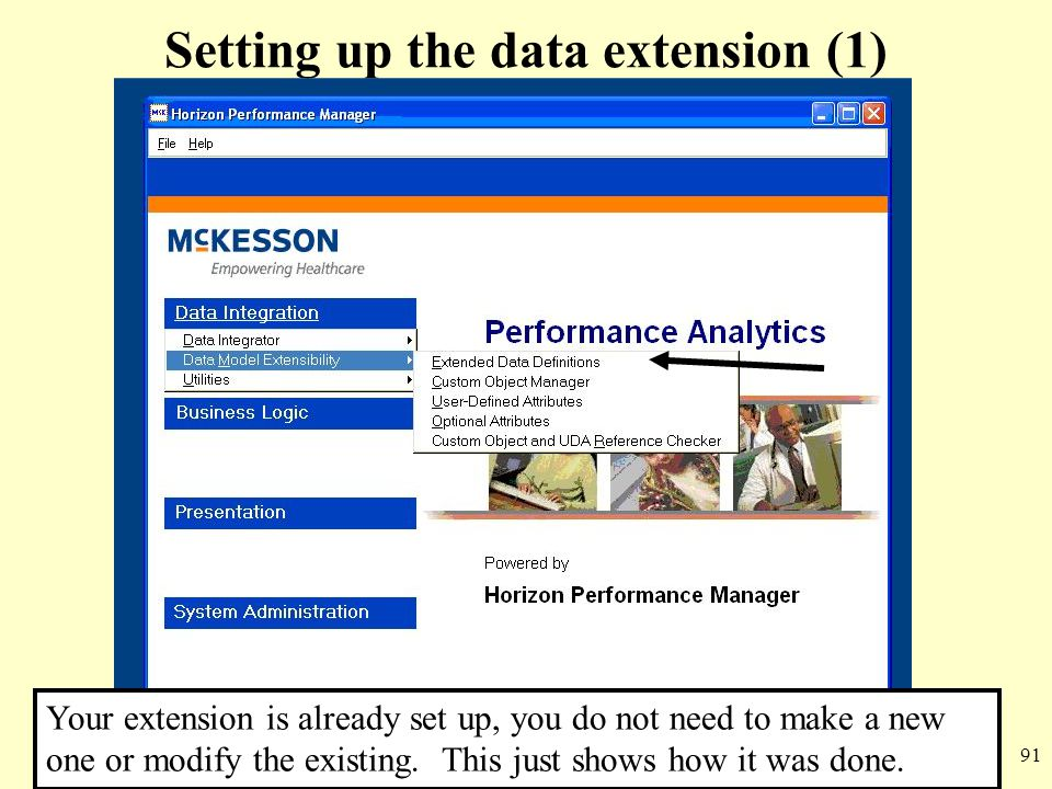 Setting up the data extension (1)