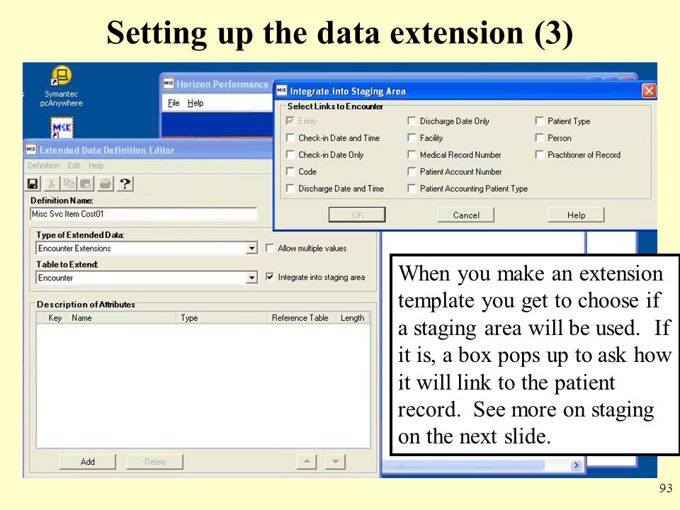 Setting up the data extension (3)