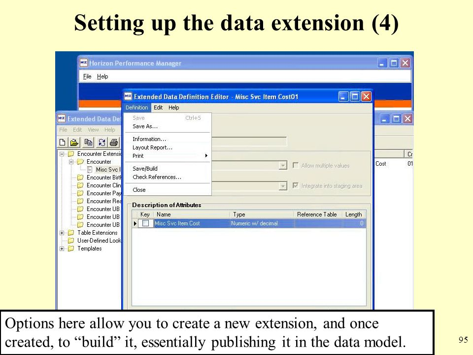Setting up the data extension (4)