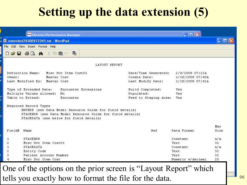 Setting up the data extension (5)