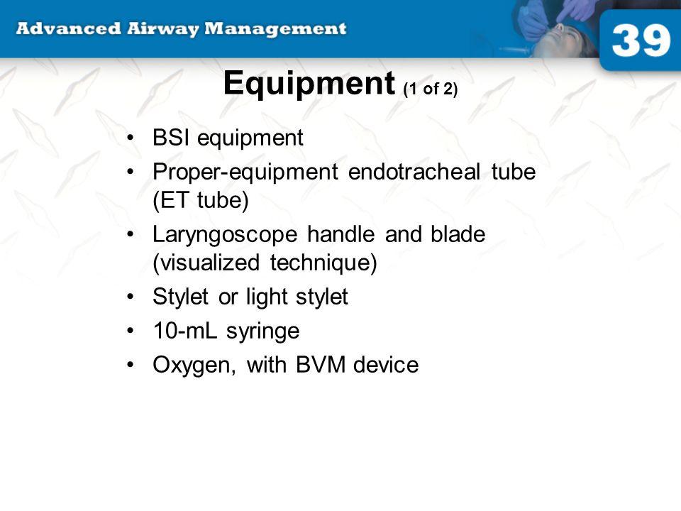 Equipment (1 of 2) BSI equipment