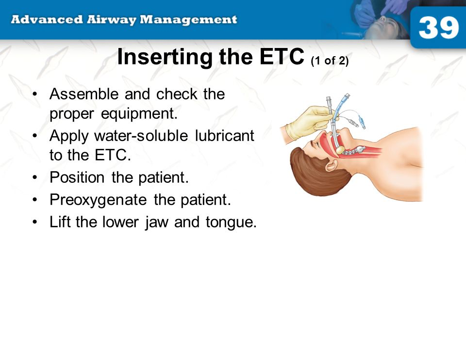 Inserting the ETC (1 of 2) Assemble and check the proper equipment.
