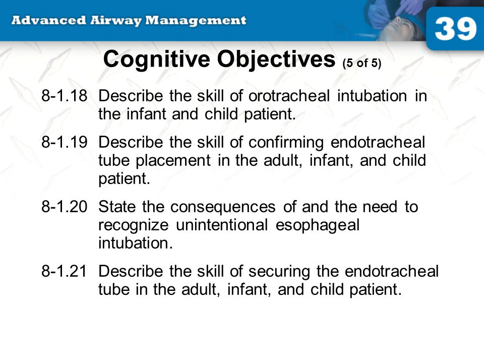 Cognitive Objectives (5 of 5)