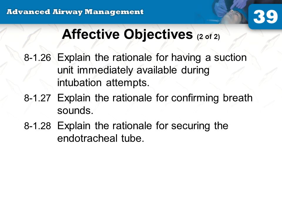 Affective Objectives (2 of 2)