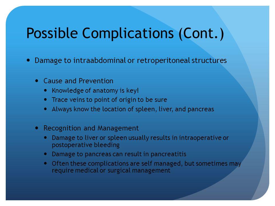 Possible Complications (Cont.)