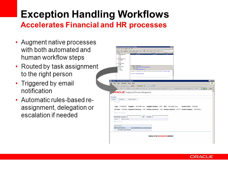 Exception Handling Workflows Accelerates Financial and HR processes
