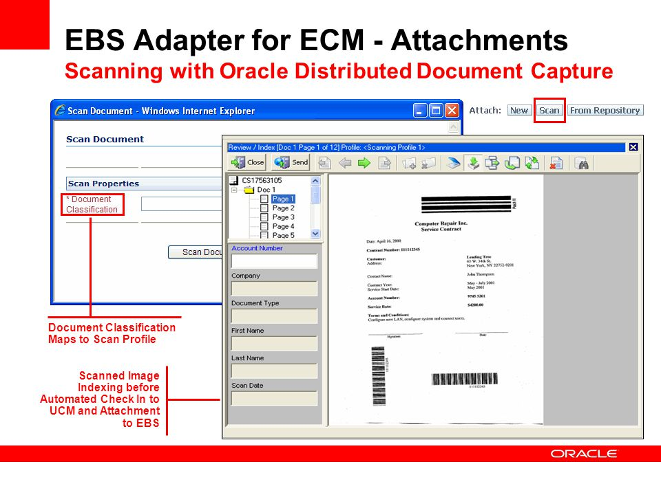 EBS Adapter for ECM - Attachments Scanning with Oracle Distributed Document Capture