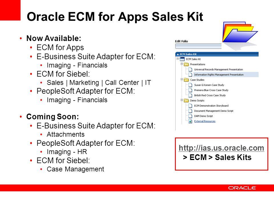 Oracle ECM for Apps Sales Kit
