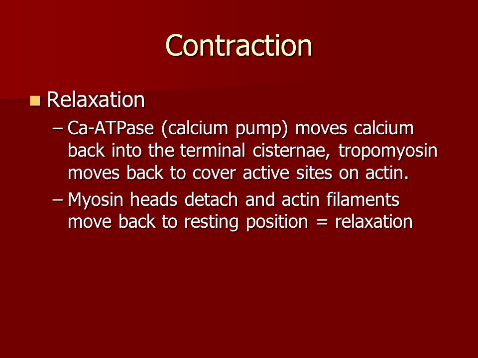 Contraction Relaxation