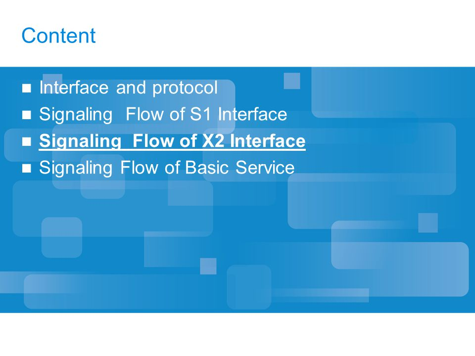 Content Interface and protocol Signaling Flow of S1 Interface