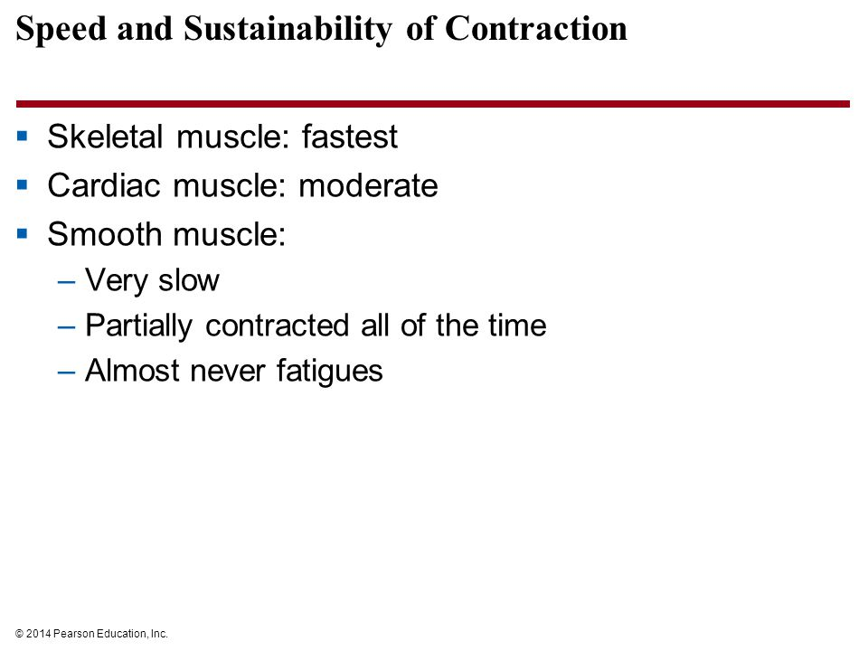 Speed and Sustainability of Contraction