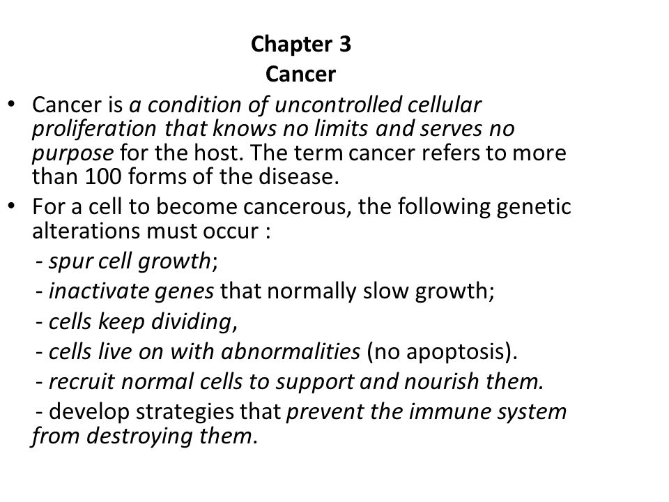 Chapter 3 Cancer.