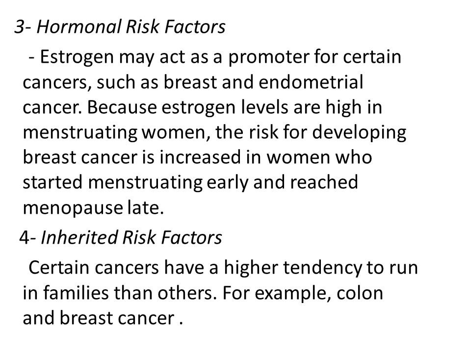 3- Hormonal Risk Factors
