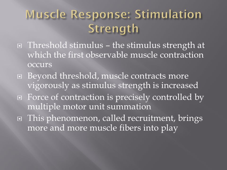 Muscle Response: Stimulation Strength