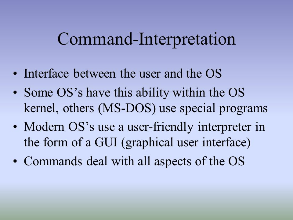 Command-Interpretation
